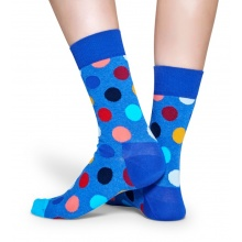 Happy Socks Tagessocke Crew Big Dot royalblau 1er