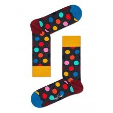 Happy Socks Tagessocke Crew Big Dot blau/rot/gelb 1er