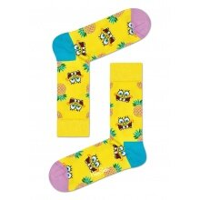 Happy Socks Tagessocke Crew Sponge Bob Fineapple Surprise gelb 1er