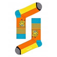 Happy Socks Tagessocke Crew Sponge Bob Let's Work It Out orange 1er
