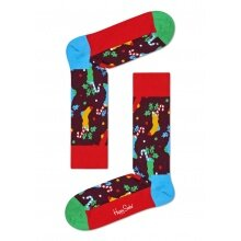 Happy Socks Tagessocke Crew Christmas Stocking (Weihnachtsstrumpf) rot 1er