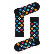 Happy Socks Tagessocke Crew Clashing Dot schwarz/bunt 1er
