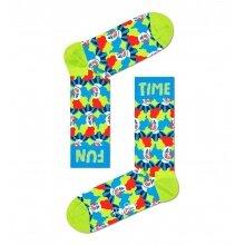 Happy Socks Tagessocke Crew Clown grün - 1 Paar