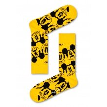 Happy Socks Tagessocke Crew Disney Face It, Mickey gelb - 1 Paar