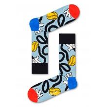 Happy Socks Tagessocke Crew Disney Mickey Stretch blaugrau 1er