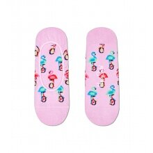 Happy Socks Tagessocke No Show Liner Flamingo pink - 1 Paar