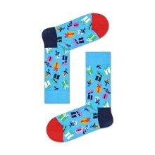 Happy Socks Tagessocke Crew Gift (Geschenk) blau - 1 Paar