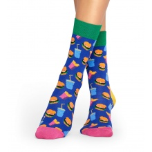Happy Socks Tagessocke Crew Hamburger blau 1er