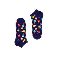 Happy Socks Tagessocke Sneaker Eiscream (Eistüte) navy - 1 Paar