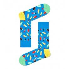 Happy Socks Tagessocke Crew Eiscream (Stieleis) blau - 1 Paar