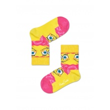 Happy Socks Tagessocke Sponge Bob Say Cheese Burger gelb/pink 1er Boys/Girls