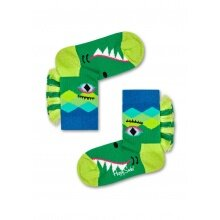 Happy Socks Tagessocke Crazy Crocodile grün 1er Boys/Girls
