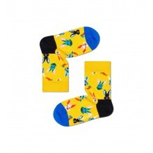 Happy Socks Tagessocke Kids Easter Bunny (Osterhase) gelb Kinder - 1 Paar