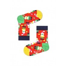 Happy Socks Tagessocke Kids Santa (Weihnachtsmann) rot 1er Boys/Girls