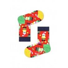 Happy Socks Tagessocke Kids Santa (Weihnachtsmann) rot 1er Boys/Girls