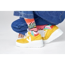 Happy Socks Tagessocke Crew Super Mom pink/rot 1er