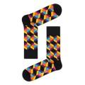 Happy Socks Tagessocke Crew Optiq Square schwarz/bunt 1er