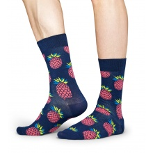 Happy Socks Tagessocke Crew Ananas navy 1er