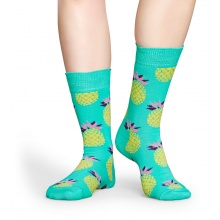 Happy Socks Tagessocke Crew Ananas mint 1er