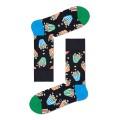 Happy Socks Tagessocke Crew Popcorn schwarz - 1 Paar