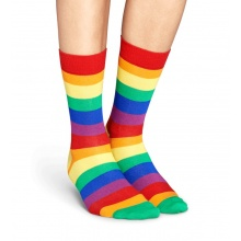Happy Socks Tagessocke Crew Stripes bunt 1er