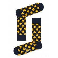 Happy Socks Tagessocke Crew Rubber Duck schwarz 1er