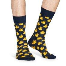 Happy Socks Tagessocke Crew Quietscheente schwarz/gelb 1er