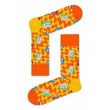 Happy Socks Tagessocke Crew Rolling Stones Beast of Burden gelb/orange 1er