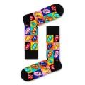 Happy Socks Tagessocke Crew Rolling Stones Jumpin Jack Flash schwarz/bunt 1er