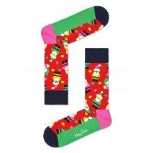 Happy Socks Tagessocke Crew Santa (Weihnachtsmann) rot 1er