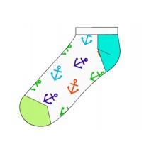 Happy Socks Tagessocke Sneaker Big Anchor (Anker) weiss - 1 Paar
