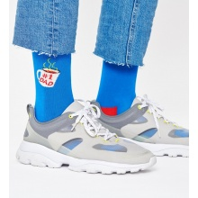 Happy Socks Tagessocke Crew Dad Kaffee blau 1er