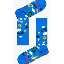 Happy Socks Tagessocke Crew Dad Drawing blau 1er