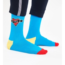 Happy Socks Tagessocke Crew Dad Herz blau 1er