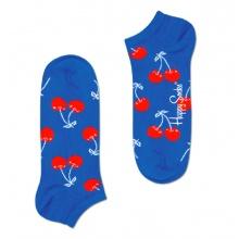 Happy Socks Tagessocke Sneaker Cherry (Kirsche) blau - 1 Paar