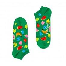 Happy Socks Tagessocke Sneaker Fruit (Früchte) grün - 1 Paar
