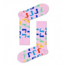 Happy Socks Tagessocke Crew World´s Strong pink - 1 Paar
