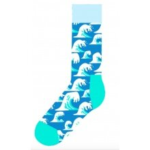 Happy Socks Tagessocke Crew Wave Sock (Welle) hellblau - 1 Paar
