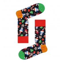 Happy Socks Tagessocke Crew Santa, Cats&Hats bunt 1er