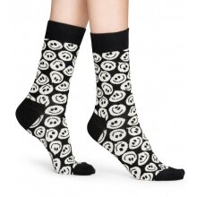 Happy Socks Tagessocke Crew Twisted Smile schwarz 1er