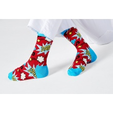 Happy Socks Tagessocke Crew Super Dad rot - 1 Paar