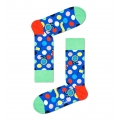 Happy Socks Tagessocke Crew Winner Dot blau - 1 Paar