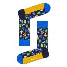 Happy Socks Tagessocke Crew Winterland dunkelblau 1er