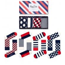Happy Socks Tagessocke Crew Classic Navy Geschenkbox 4er