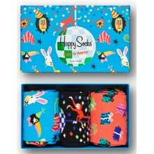 Happy Socks Tagessocke Crew Happy Birthday Party Animal Geschenkbox 3er