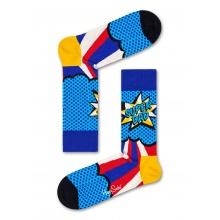 Happy Socks Tagessocke Crew Vatertag (Super Dad) rot Geschenkbox - 3 Paar