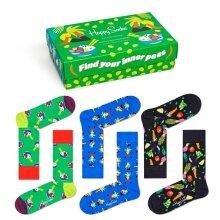 Happy Socks Tagessocke Crew Healthy Lifestyle Geschenkbox 3er
