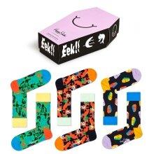Happy Socks Tagessocke Crew Halloween Gift Geschenkbox - 3 Paar