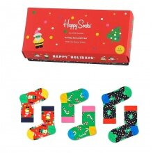 Happy Socks Tagessocke Kids Holiday Gift Geschenkbox Kinder - 3 Paar