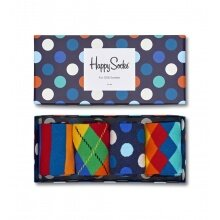 Happy Socks Tagessocke Crew Multi Color Geschenkbox 4er